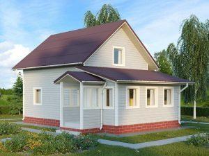 Проект каркасного дома 6х10 м, 105м2 Проект КД-1 (стандарт)