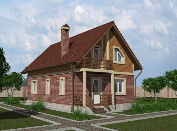 Проект каркасного дома 6х10,5 м, 121м2 Проект КД-2 (люкс)
