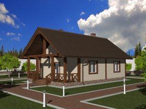 Проект каркасного дома 7,5х12 м, 75 (90)м2 Проект КД-3 (комфорт)